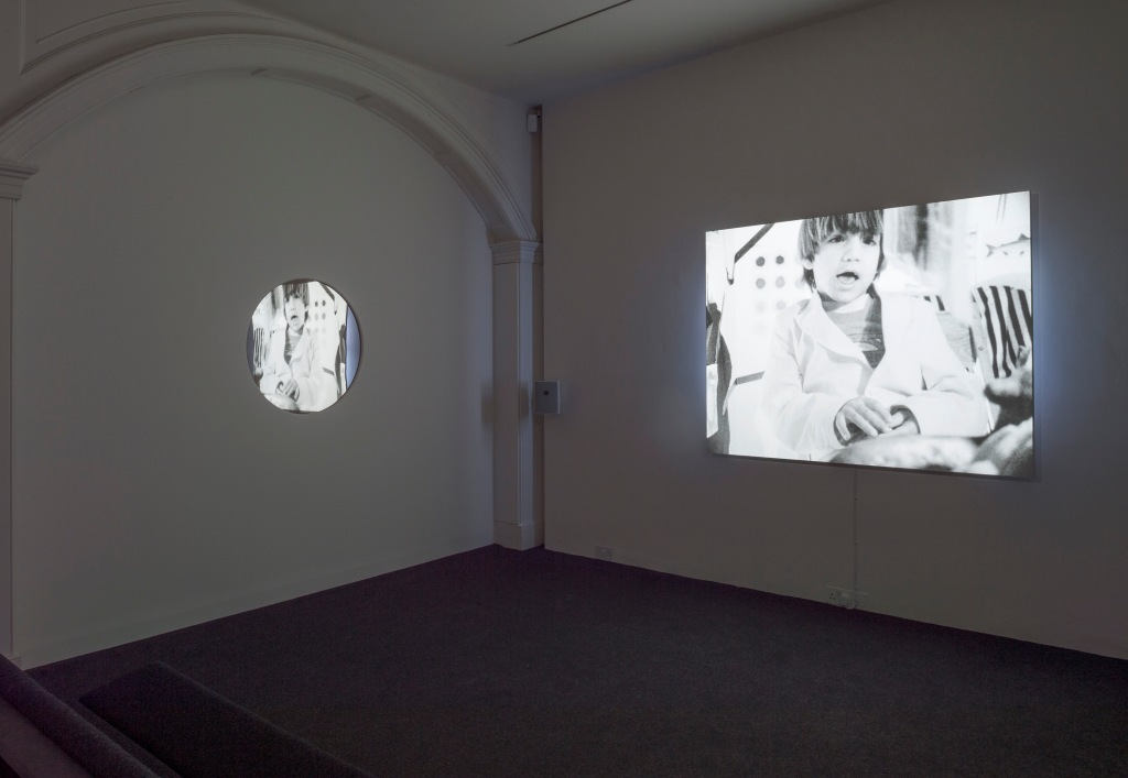 Leslie Thornton, Peggy and Fred in Hell: Folding, 1984-2015, 16mm film and video transferred to digital, 95 min. Exhibition view The Inoperative Community, curated by Dan Kidner, Raven Row, London, 3 December – 14 February 2016. Photograph by Marcus J. Leith